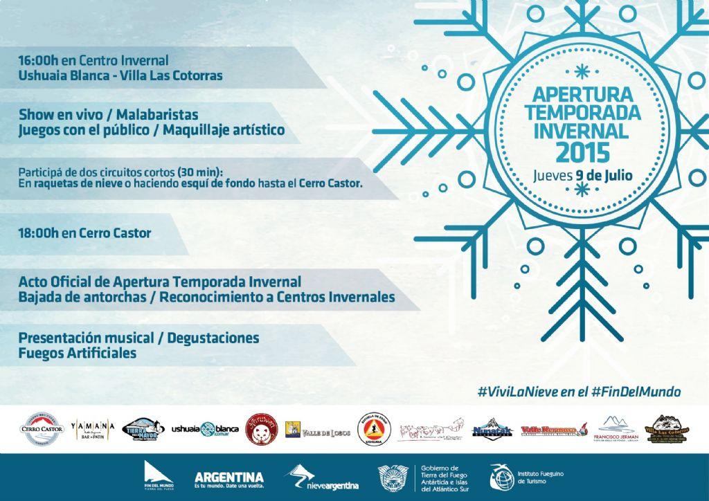 El 9 de julio inaugura la Temporada Invernal 2015 - Infofueguina ...