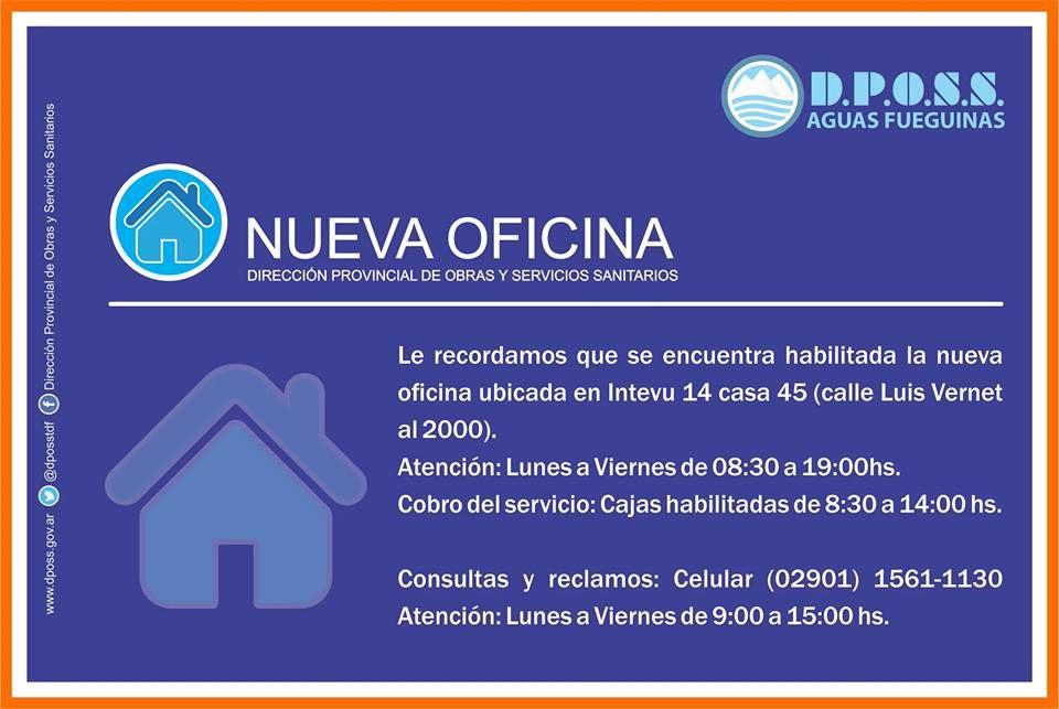 Dposs cuenta con nueva oficina de atenci n infofueguina for Oficina de correos horario de atencion al publico