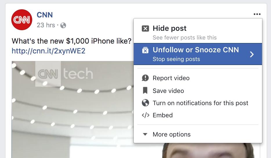 Facebook tiene ahora un botón para silenciar contactos