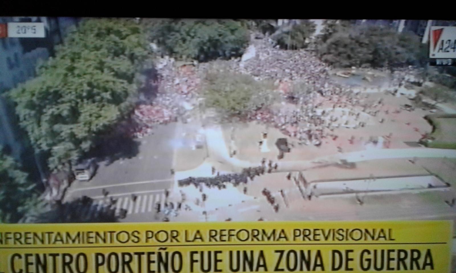 Policía argentina reprime severamente a manifestantes frente al Congreso (+ Fotos)