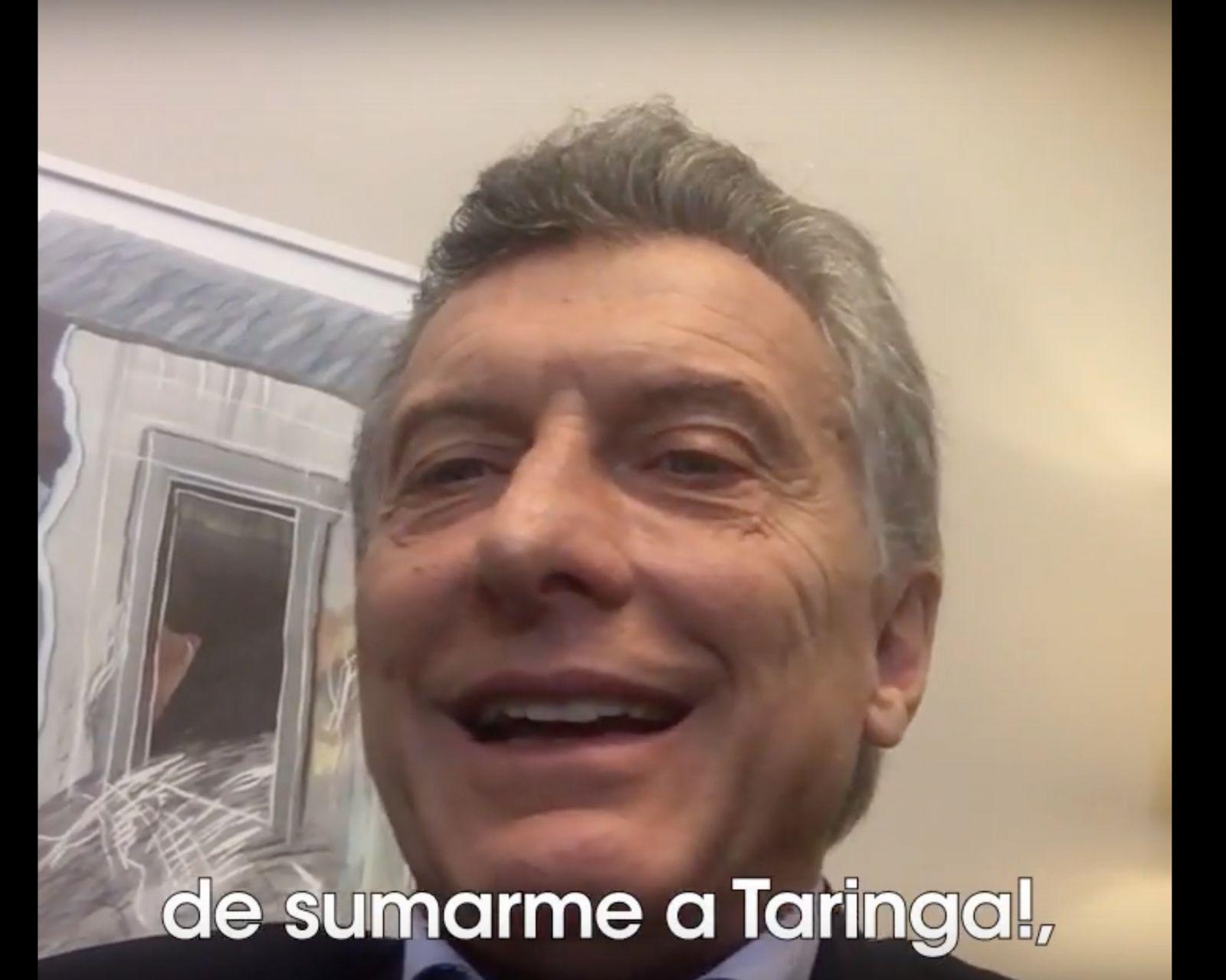 Mauricio Macri se unió a la comunidad de Taringa!