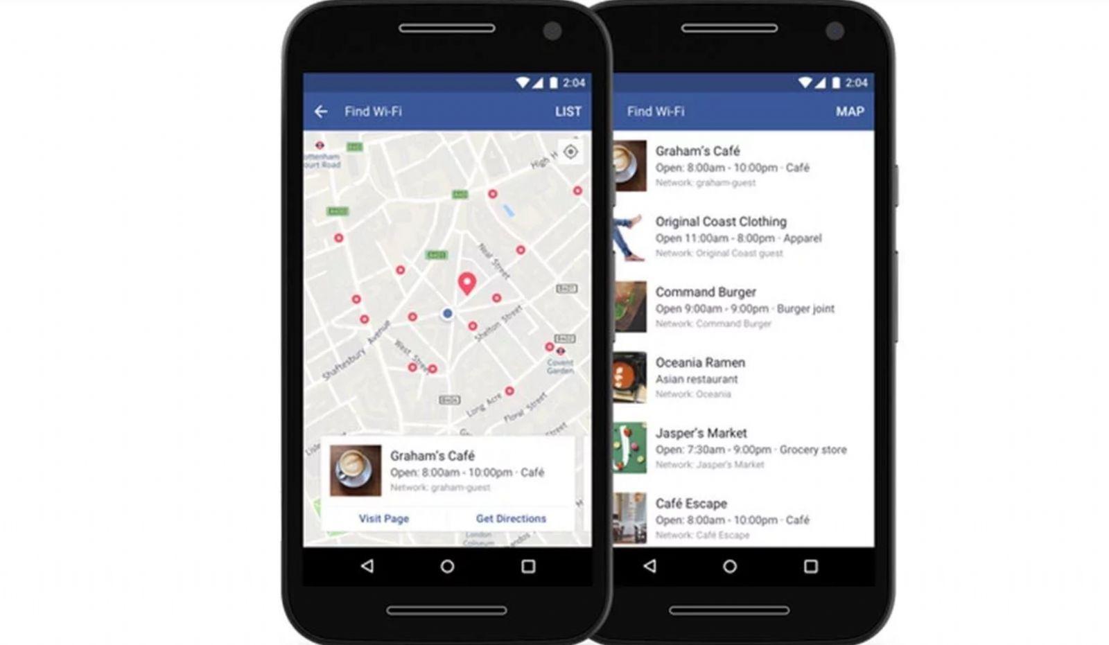 Facebook lanza 'Find Wi-Fi' para que no te quedes sin conexión