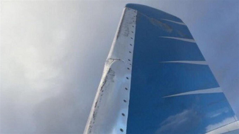 Un avión rozó una torre de iluminación en Chapelco