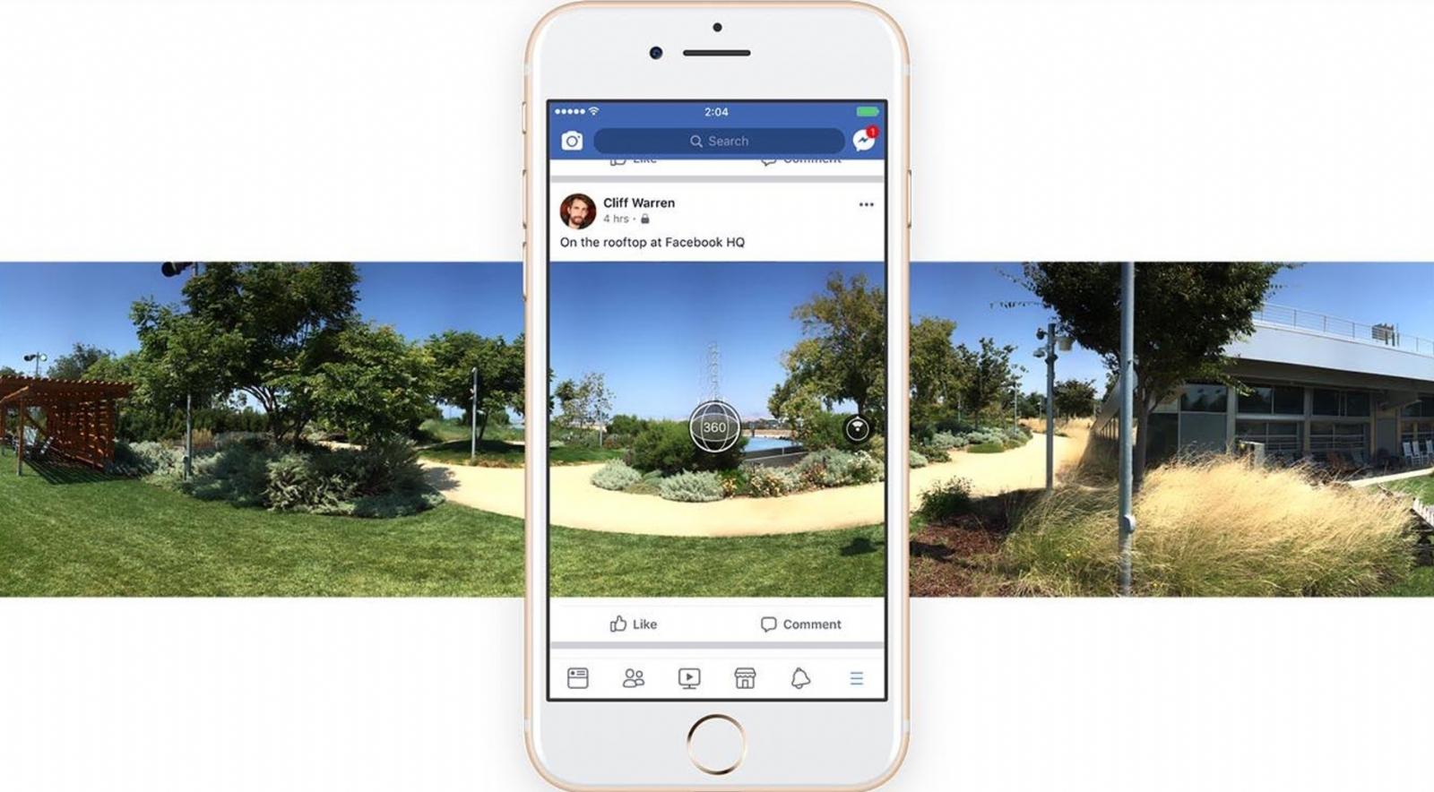 Facebook permite sacar y compartir fotos 360° directamente desde la app