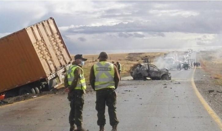 Cinco argentinos murieron en un accidente carretero en Magallanes
