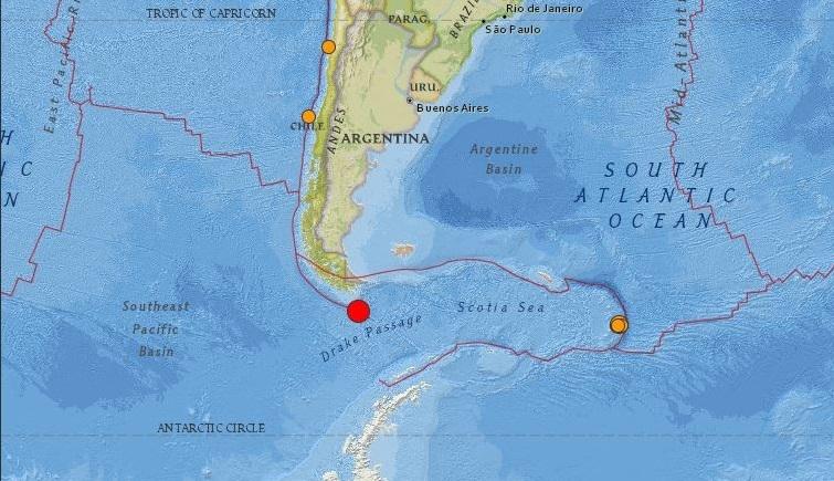 Un terremoto de magnitud 6.4 sacude la ciudad argentina de Ushuaia