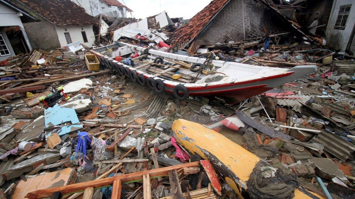 El concierto que fue arrasado por tsunami en Indonesia