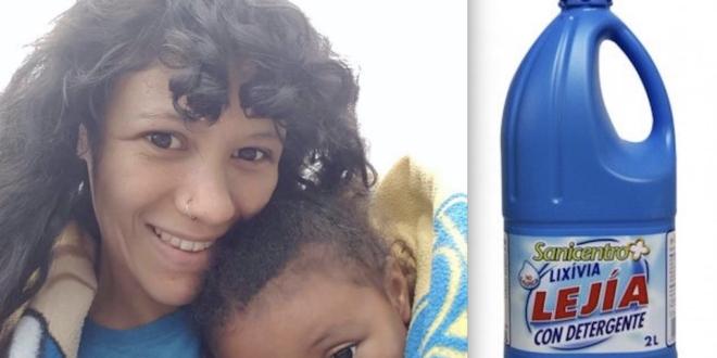 Mujer utiliza cloro para curar a su hija, pero casi la asesina