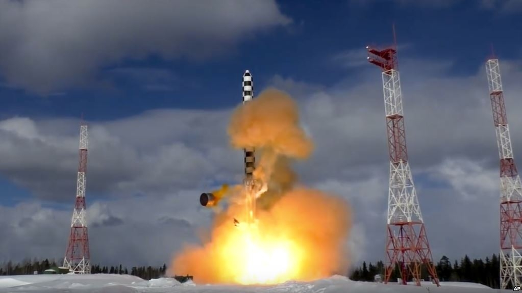 Prueba Vladimir Putin misil