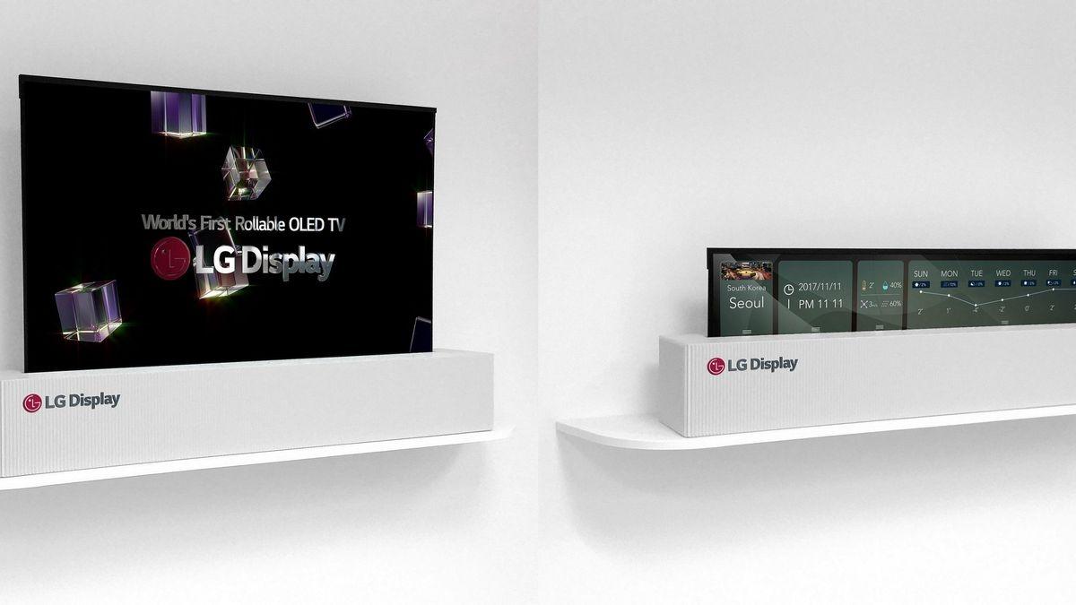 LG vende el primer televisor enrollable: cuesta una verdadera fortuna