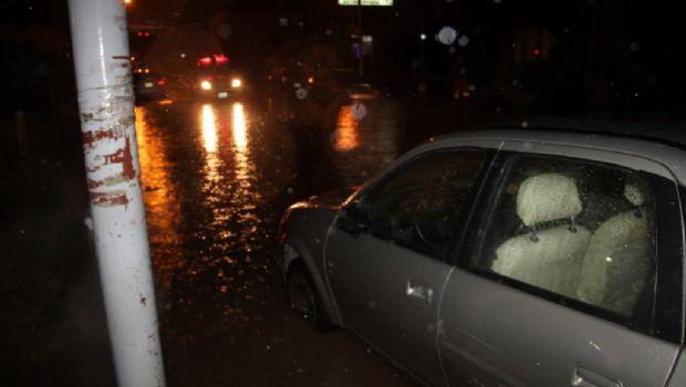 Un intenso temporal de lluvia y viento afectó Ushuaia