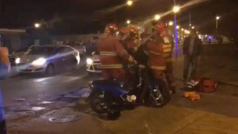 Accidente dejó un motocilcista herido