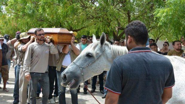 El caballo que hizo llorar a todos en el funeral de su jinete
