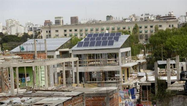 Estrenarán edificios con paneles solares en la Villa 31