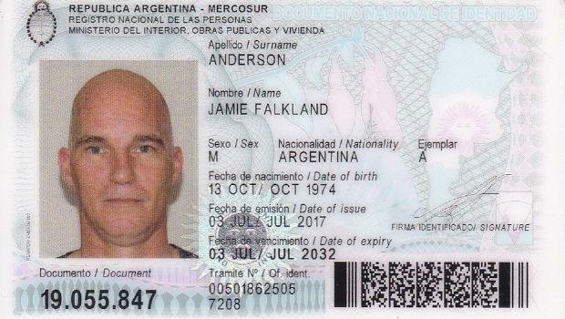Kelper quiso el DNI argentino porque dice que en Malvinas violaron sus derechos