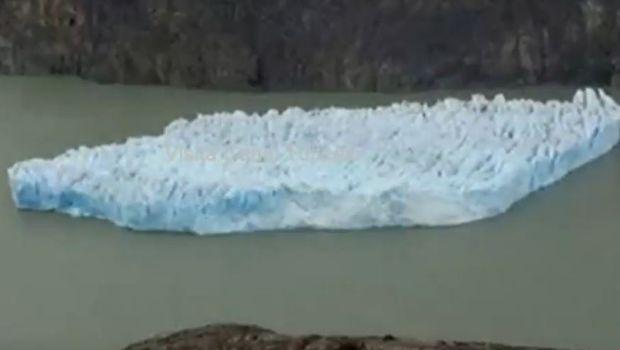 Se desprendió un descomunal iceberg en el sur de Chile