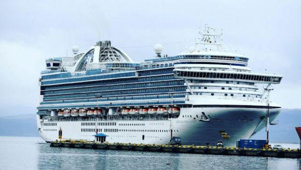 "Crucero ""Emerald Princess"" llegó por primera vez a Ushuaia"