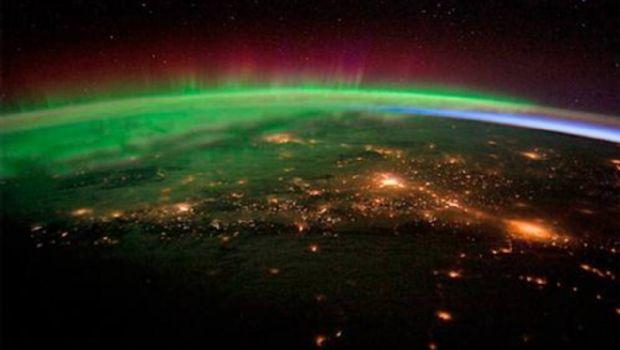 Así ve la aurora boreal un astronauta