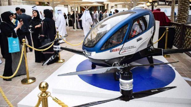 Dubai prueba un servicio de taxis con drones