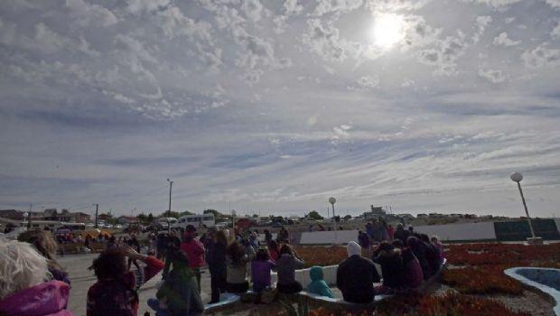 El primer eclipse solar anular se vio en todo el país