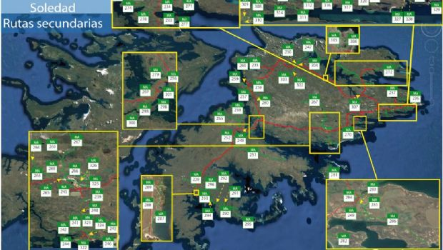 Garramuño solicitó incorporar a la red vial provincial las rutas de las Islas Malvinas