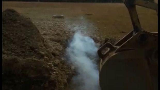 Maquinaria de la empresa Convial Fue S.A. habría roto el gasoducto