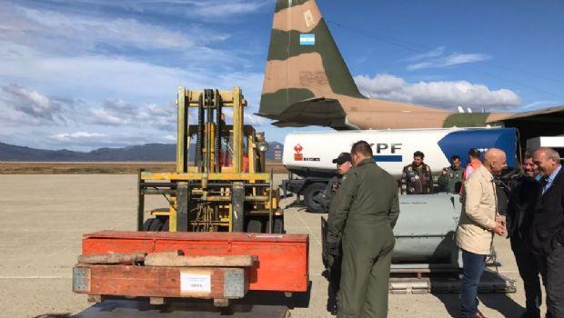 Ushuaia: Llegó la maquinaria necesaria para reparar el gasoducto