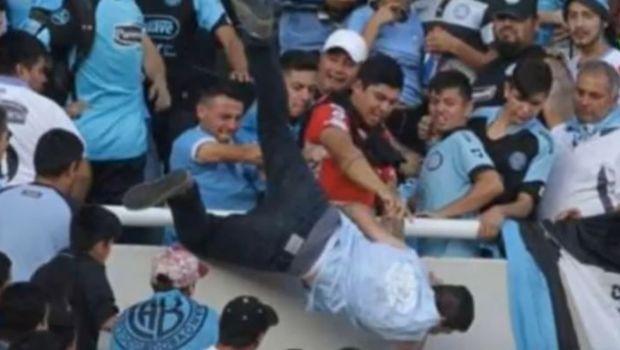 Murió el hincha de Belgrano arrojado desde la tribuna
