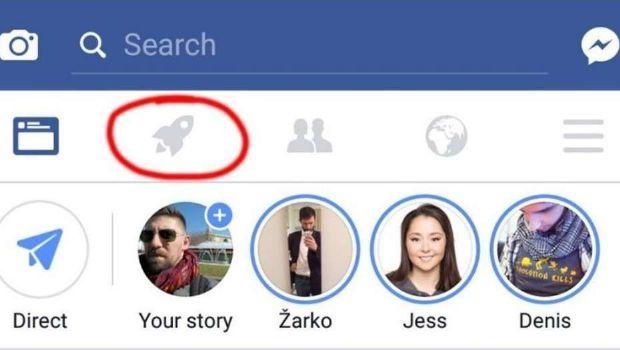 ¿Para qué sirve el cohete azul en Facebook?