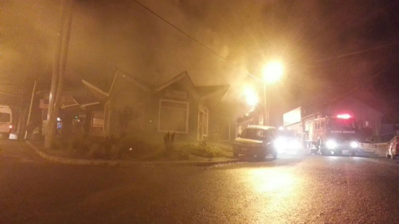 Ushuaia: Se incendió un local de eventos