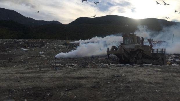 Fumigaron el relleno sanitario en Ushuaia