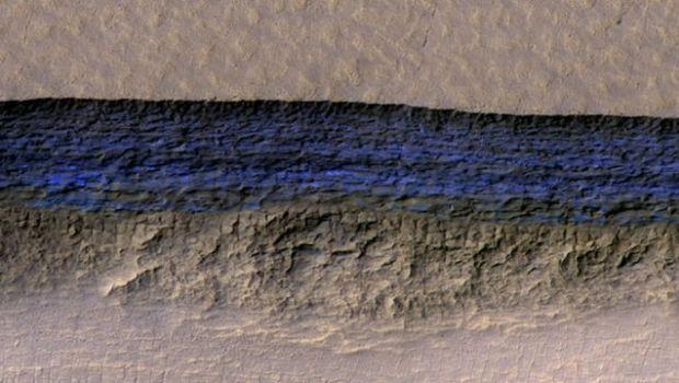 Encuentran varios glaciares cerca de la superficie de Marte