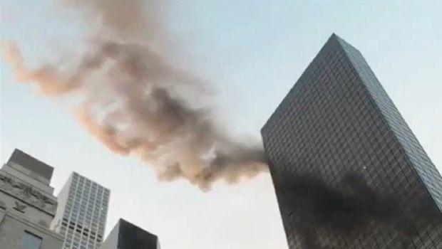 Se incendió parcialmente la Torre Trump de Manhattan en Nueva York