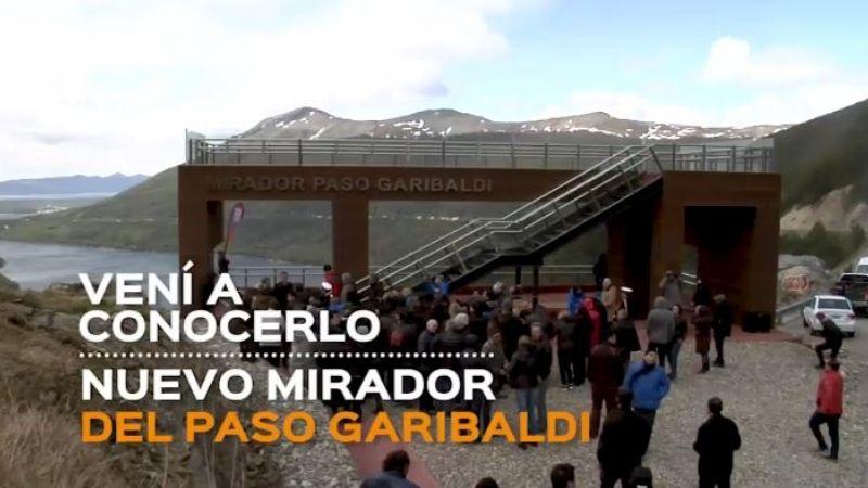 Invitan a fueguinos y turistas a conocer el nuevo mirador en el Paso Garibaldi
