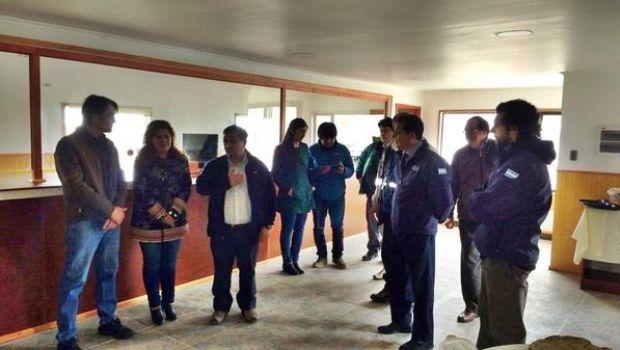 Reunión de coordinación en el paso fronterizo chileno