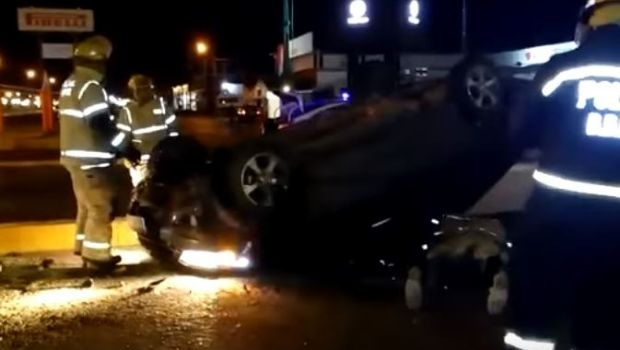 Joven alcoholizado protagonizó impactante vuelco en Río Grande