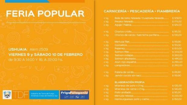 Este viernes y sábado, nueva Feria Popular en Ushuaia y Río Grande