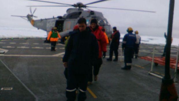 El Irízar rescató a cinco estadounidenes varados en la Antártida
