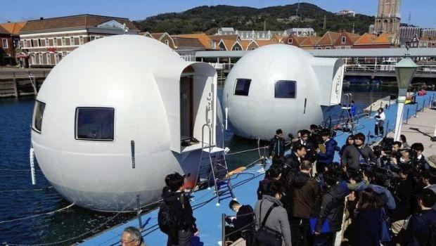 Presentan en Japón un hotel antitsunami flotante