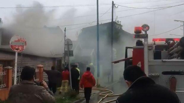 Voraz incendio en una casa de Ushuaia