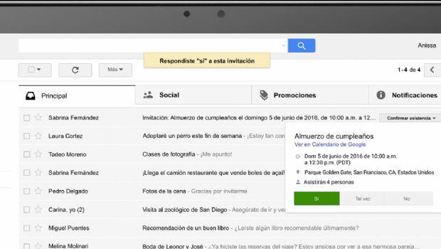 Gmail prepara su primer rediseño web
