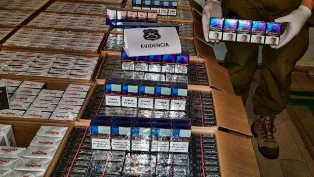 Los detuvieron por contrabandear 18 mil paquetes de cigarrillos