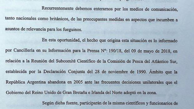 Bertone cuestionó que Gobierno nacional no tenga en cuenta a la Provincia en decisiones sobre Malvinas