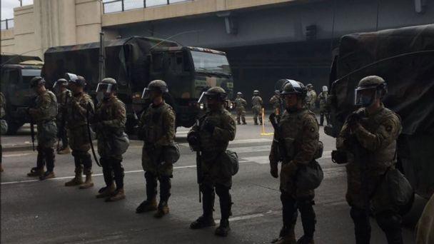 La guardia nacional de Estados Unidos fue desplegada en la ciudad de Minneapolis. Fuente: Twitter